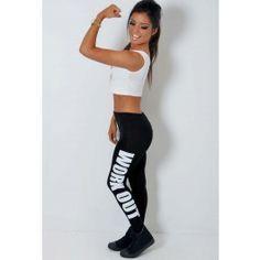 Work It Black and White Gym Leggings