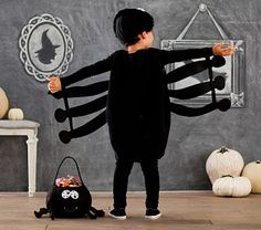 Pottery Barn Kids offers kids & baby furniture, bedding and toys designed to delight and inspire. Cute Costumes For Kids, Girl Costumes, Monster Party, Halloween Kostüm, Halloween Costumes, Spider Costume, Baby Furniture, Pottery Barn Kids, Masquerade