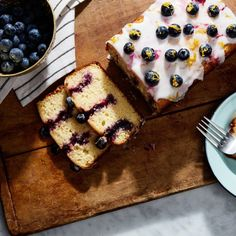 Lemon Blueberry Poke Cake- Recipe Image / Photo by Chelsea Kyle, Food Styling by Katherine Sacks Jello Parfait, Poke Cakes, Layer Cakes, Cupcakes, Cupcake Cakes, Cake Recipes, Dessert Recipes, Bread Recipes, Ww Desserts