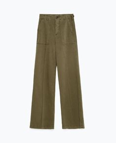 Image 8 of WIDE LEG TROUSERS from Zara
