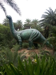 CJ Murali's picture of a dinosaur statue at the Nehru Zoological Park - a fun one!