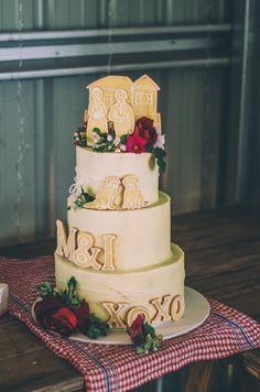 Our beautiful wedding cake! #rustic #country #wedding #party @treenridge