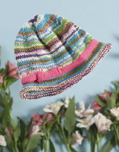 Cotton Bam Boo Baby Hat at yarn.com - free pattern