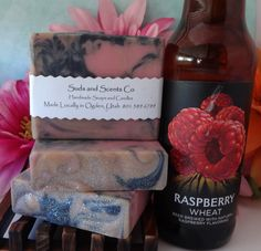 AMBER RASPBERRY Beer Goats Milk and Buttermilk by SudsNScentsCo