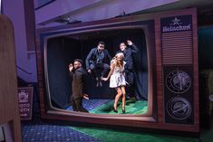 <p> OM Media provided an oversize TV frame as the staging for its photo booth at the Heineken activation. Guests...