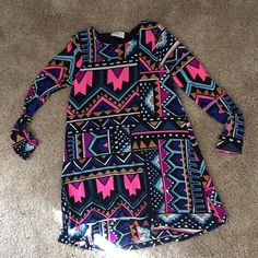 Long sleeved dress Long sleeve tribal dress! Only worn once!! Dresses Long Sleeve