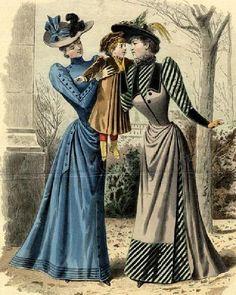 1890 fashion plates - Google Search