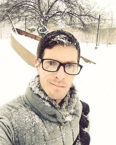 Happy snowy Sunday from #providenceri ❄🐧 #snowy #rhodeisland #oceanstate #lilrhody #gayguy #gaybro #gaygeek #sobersunday #soberlife #cleanandsober #happyplace #guyswithglasses #gaynerd