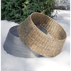 Abaca Tree Collar in Decor | Crate and BarrelCrate & Barrel $69.95 for Christmas Tree