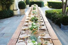 one big long table brings everyone together.
