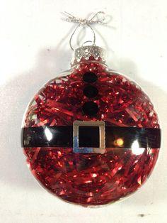 Cricut Vinyl Santa Ornament