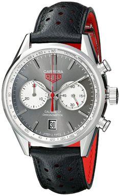 Men's watches :TAG Heuer Men's THCV5110FC6310 Carrera Analog Display Swiss Automatic Black Watch