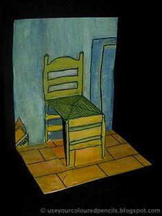 Use Your Coloured Pencils: Van Gogh's Chair Pop-Ups