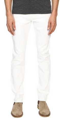 Capture a clean scene. Enjoy a bright future wearing the #Vince #Stretch Optic 718 #Jean. #denim #apparel #clothing #men