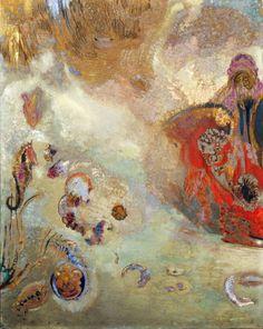 "Odilon Redon (French, - ""Underwater Vision"" , ca. Oil on canvas Pierre Auguste Renoir, Henri Matisse, Illustrations, Illustration Art, Monet, Odilon Redon, Gauguin, Museum Of Modern Art, Sculpture"