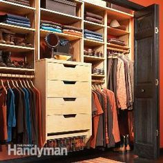 How to Triple Your Closet Storage Space ~~ Build your own birch plywood closet organizer for half the cost of buying one. Using this simple design you can build an organizer to fit any size closet in a weekend.