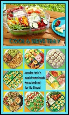 """The Cool  Serve Square Tray is one of the most versatile products from The Pampered Chef. I LOVE it! There's now a smaller, 9"""" version, too. Follow the link to my website and click on shop to browse the catalog and find out more about this and other great summer products."""