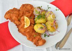 Wiener Schnitzel, Healthy Snacks, Healthy Recipes, Cooking Recipes, Mai, Chicken, Ethnic Recipes, Vienna, Fine Dining