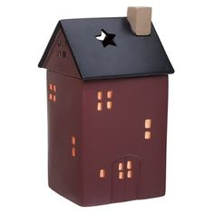 NO PLACE LIKE HOME SCENTSY WARMER PREMIUM - Welcome home! This cozy red house is complete with windows, a door and a removable black roof fitted with a skylight perfect for stargazing. Wouldn't this make a precious housewarming gift?