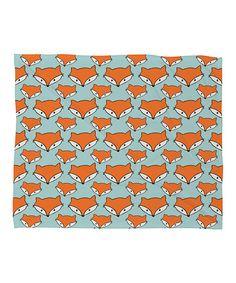 Look what I found on #zulily! Orange So Foxy Fleece Throw #zulilyfinds