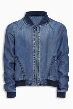 Buy Denim Mid Blue Bomber Jacket (3mths-6yrs) online today at Next: United States of America