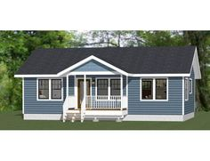 Mobile Home Porch, Mobile Home Exteriors, Mobile Home Redo, Manufactured Home Porch, Clayton Homes, Clayton Modular Homes, Pintura Exterior, Ranch Remodel, Ranch Style Homes