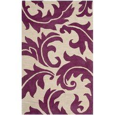 Handmade Soho Purple/ Beige New Zealand Wool Rug | Overstock.com Shopping - Great Deals on Safavieh 7x9 - 10x14 Rugs