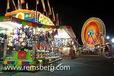 Amusement park at the Maryland State Fair, Timonium MD by Remsberg Photos, via Flickr