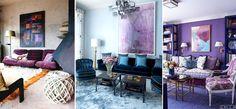 Модный в 2018 году ультрафиолет можно добавить в виде картин на стенах