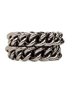 tough meets chic:  our Hematite Link Bracelet