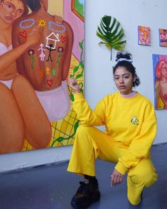 Monica Hernandez is an artist born 1995 in the Dominican Republic. Artist Life, Artist At Work, Modern Art, Contemporary Art, Art Inspo, Painting Inspiration, Art Hoe Aesthetic, Figurative Art, Art Studios