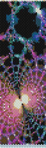 BPFR0001 Fractal 1 Even Count Single Drop Peyote von greendragon9