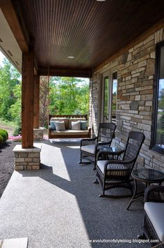 would love to do this to back patio