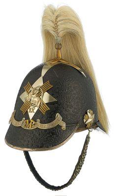 Fife Mounted Rifles, Officer's helmet. Military Uniforms, British Army, Military History, Headgear, Volunteers, Napoleon, Headdress, Badge, Helmet