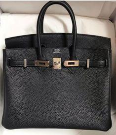 HERMÉS BIRKIN BAG 25 BLACK TOGO PALLADIUMHARDWARE Fendi, Gucci, Hermes Birkin, Celine, Dior, Charms, Louis Vuitton, Couture, Luxury Handbags
