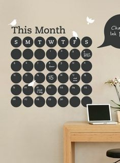 See all your appointments at a glance with a wall calendar.