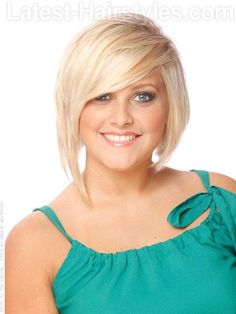 This layered bob has tons of volume and soft edges. The jaw line length in front is clipped up ever so slightly towards the back making this look more modern than your average bob. Full bangs and short layers round this style out. Short Blonde Haircuts, Cute Short Haircuts, Short Hair Cuts, Short Hair Styles, Asymmetrical Haircuts, Teen Boy Haircuts, Modern Haircuts, Bob Haircuts, Haircuts For Men