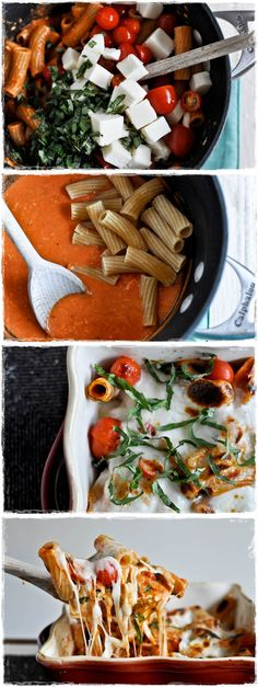 Creamy Caprese Pasta - @Katie Hrubec Hrubec Hrubec Hrubec Schmeltzer Ryan Next time we are making this!!!!