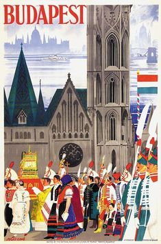 Budapest • Hungary _________________________ #Vintage #Travel #Poster