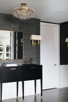 Black and gray foyer