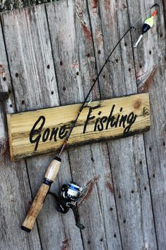 Gone Fishing Rods. Take this incredible Kid's Telescoping Fishing Rod from Gone Fishing anywhere. This amazing fishingpole collapses to an incredible Trout Fishing, Kayak Fishing, Fishing Signs, Fishing Rods, Gone Fishing Sign, Saltwater Fishing, Fishing Tackle, I Love My Hubby, Fishing Life
