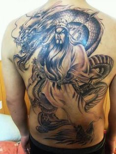 Tattoo Samurai with dragons  - http://tattootodesign.com/tattoo-samurai-with-dragons/  |  #Tattoo, #Tattooed, #Tattoos