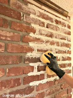 How to Mortar Wash a Brick Fireplace Brick Fireplace Makeover Mortar Wash Tutorial Dimples and Tangles Brick Fireplace Makeover, Farmhouse Fireplace, Home Fireplace, Fireplace Mantels, Farmhouse Decor, White Wash Fireplace Brick, Fireplace Mortar, Distressed Fireplace, Brick Fireplace Decor