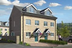 new build 3 bed semi houses exterior - Google Search New Builds, Building A House, New Homes, Exterior, Houses, 3d, Mansions, Google Search, House Styles