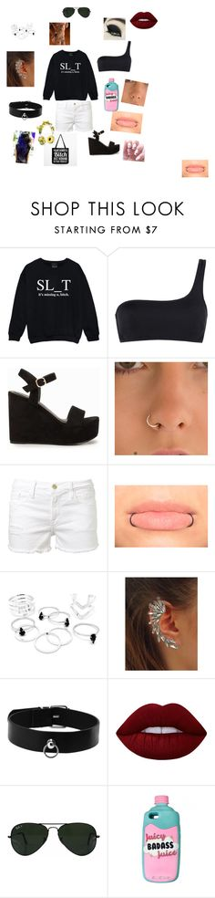 """""""the awesomes. Prock sister"""" by lilly-n-hood-sos on Polyvore featuring Kale, STELLA McCARTNEY, Nly Shoes, Frame Denim, Lime Crime, Ray-Ban and Dolce&Gabbana"""