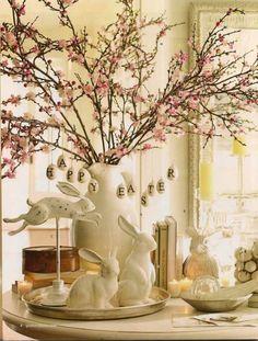 Classic Spring Blossom Bunny Display