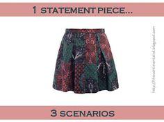 1 statement piece, 3 scenarios: Statement piece