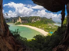 THAILAND: kayak from Ao Nang to Railay, (near Krabi, famous for rock climbing) to find this little-known view point.