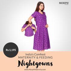 cc289680583 Purple Feeding Nighty - Sleep. NightiesBreastfeedingPregnancyComfyBreast  FeedingConceiving
