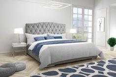 Eleganckie tapicerowane łóżko do sypialni VARPEN z zagłówkiem w stylu glamour - Internetowy sklep meblowy Onemarket.pl - #sypialnia #bedroom #łóżko #łóżka #łóżkotapicerowane #łóżkatapicerowane #glamour #bed #beds #upholsteredbed Antara, Mattress, Bed, Furniture, Home Decor, Decoration Home, Stream Bed, Room Decor, Mattresses